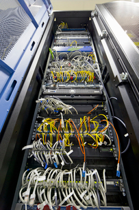 Server cabinet in data centreの写真素材 [FYI02693495]