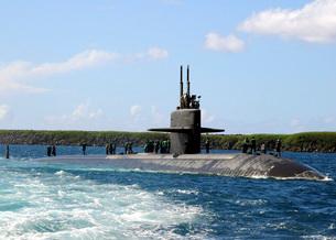 The fast-attack submarine USS Los Angeles.の写真素材 [FYI02694085]