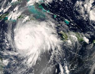 Hurricane Gustav over Jamaica.の写真素材 [FYI02694292]