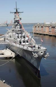 The decommissioned U.S. Navy Battleship, USS Wisconsin, bertの写真素材 [FYI02694410]