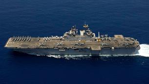 Amphibious assault ship USS Makin Island.の写真素材 [FYI02694433]