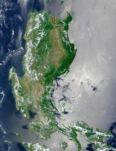Satellite image of the northern Philippines.の写真素材 [FYI02694807]
