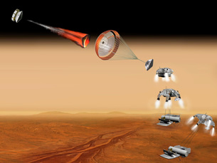Artist's concept of a proposed Mars sample return mission.のイラスト素材 [FYI02694892]