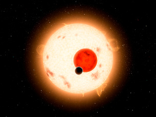 Artist's concept of the Kepler-16 system.のイラスト素材 [FYI02694923]