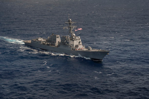 The Arleigh Burke-class guided-missile destroyer USS Stockdaの写真素材 [FYI02694946]