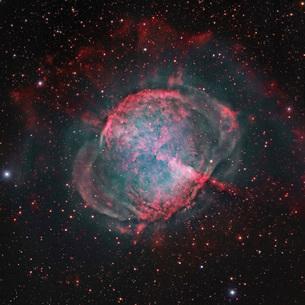 Messier 27, The Dumbbell Nebula.の写真素材 [FYI02695386]