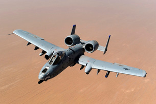 An A-10 Thunderbolt II over the skies of Afghanistan.の写真素材 [FYI02695460]