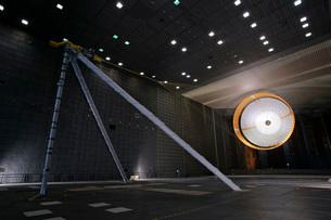 A parachute undergoes flight-qualification testing inside aの写真素材 [FYI02695607]
