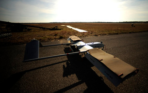 A U.S. Army RQ-7B Shadow unmanned aerial vehicle.の写真素材 [FYI02695964]