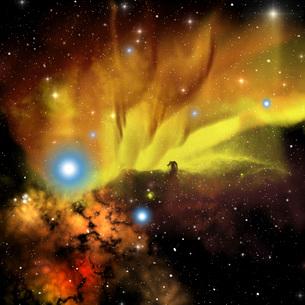 Illustration of the Horsehead Nebula.のイラスト素材 [FYI02696091]
