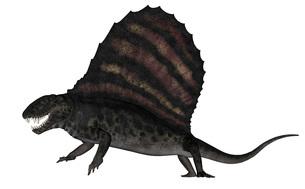 Dimetrodon dinosaur - 3D renderのイラスト素材 [FYI02696608]