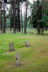 Sweden, Stockholm, Enskede, Grave stonesの写真素材 [FYI02699526]