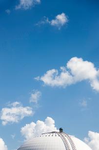 Sweden, Stockholm, Enskede, Building top against cloudsの写真素材 [FYI02699780]