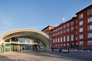 Sweden, Skane, Malmo, View of Triangeln railroad station andの写真素材 [FYI02700024]