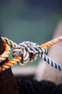 Sweden, Oland, Close-up of ropeの写真素材 [FYI02700078]