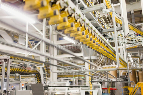 Printing press conveyor beltsの写真素材 [FYI02700277]