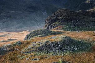 Craggy path to Llyn Llydaw, Snowdon, Walesの写真素材 [FYI02700322]