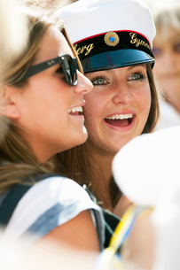 Sweden, Stockholm, Ostermalm, Happy female students at graduationの写真素材 [FYI02703229]