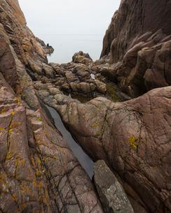 Sweden, Skane, Kullaberg, Eroded coastal rocksの写真素材 [FYI02703642]