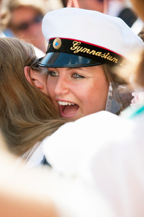 Sweden, Stockholm, Ostermalm, Happy female students at graduationの写真素材 [FYI02703685]