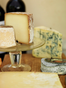 Sweden, Vastergotland, Close up of french cheeseの写真素材 [FYI02703739]
