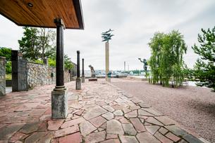 Sweden, Uppland, Lindingo, Classical Greek style statues in Millesgardenの写真素材 [FYI02703878]