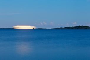 Finland, Eckero, Berghamn, Ferry on Baltic Sea near Aland Archipelagoの写真素材 [FYI02703905]