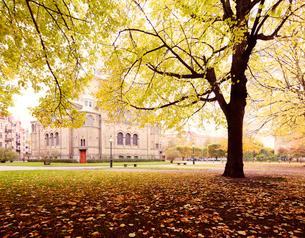 Sweden, Skane, Malmo, View of Sant Pauli church at autumnの写真素材 [FYI02703915]