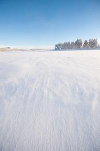 Sweden, Lappland, Jokkmokk, Frozen lake in winterの写真素材 [FYI02704245]