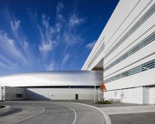 Sweden, Skane, Lund, Modern building of Max IV laboratoryの写真素材 [FYI02704337]