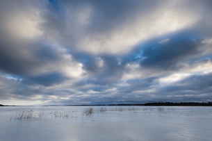 Sweden, Sodermanland, Clouds on sky over lakeの写真素材 [FYI02704350]