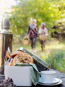 Sweden, Skane, Close-up of picnic foodの写真素材 [FYI02704477]