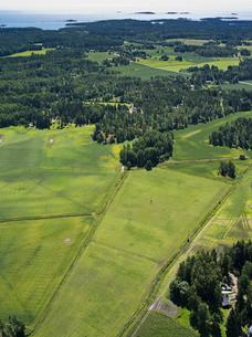 Finland, Uusimaa, Porkkala, Aerial view of landscapeの写真素材 [FYI02704612]
