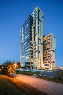 Sweden, Skane, Lund, Exterior of building in Ideon Science Parkの写真素材 [FYI02704641]