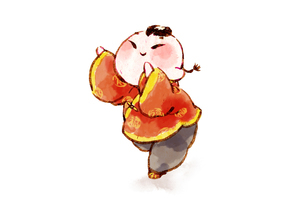 Boy with Chinese traditional clothingのイラスト素材 [FYI02704867]