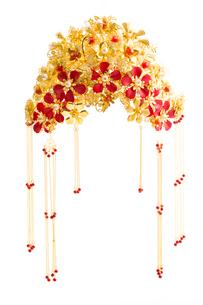 Traditional Chinese wedding elementsの写真素材 [FYI02704898]