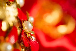 Traditional Chinese wedding elementsの写真素材 [FYI02704899]