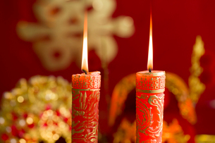 Traditional Chinese wedding elementsの写真素材 [FYI02704953]