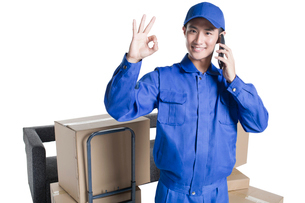 House-moving serviceの写真素材 [FYI02704966]