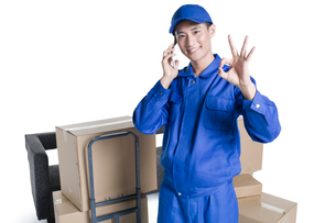 House-moving serviceの写真素材 [FYI02704967]