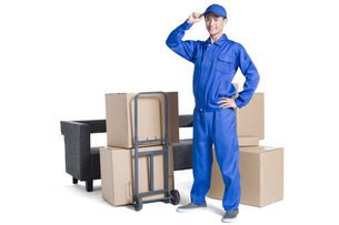 House-moving serviceの写真素材 [FYI02705019]
