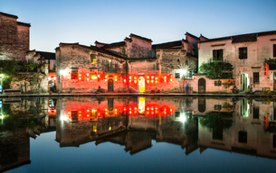 Hong village in Anhui province,Chinaの写真素材 [FYI02705559]