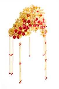 Traditional Chinese wedding elementsの写真素材 [FYI02705564]