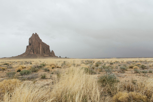 Shiprock is a sacred Navajo landmark on the Navajo Indian Reservation in New Mexicoの写真素材 [FYI02705566]
