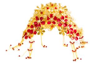 Traditional Chinese wedding elementsの写真素材 [FYI02705569]