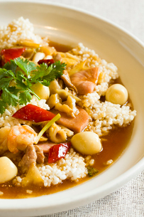 Chinese cuisine spicy crispy riceの写真素材 [FYI02705643]