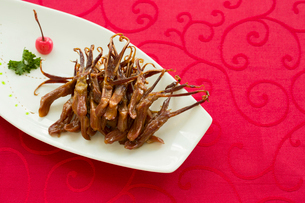 Chinese cuisine braised duck tonguesの写真素材 [FYI02705665]