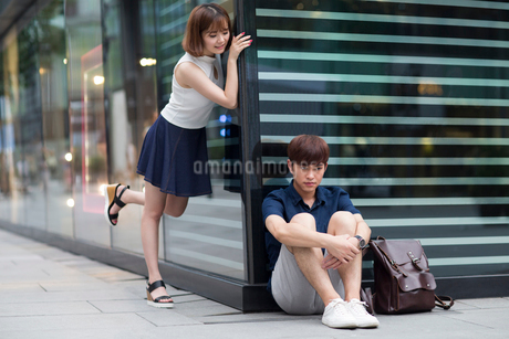 Happy young couple datingの写真素材 [FYI02705681]