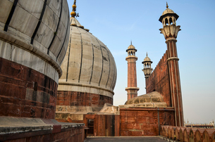 Exterior view of Jama Masjid mosque in Delhi, India.の写真素材 [FYI02706122]