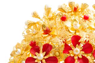 Traditional Chinese wedding elementsの写真素材 [FYI02706326]